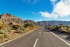 Road to volcano El Teide Stock Photos