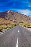 Road to the volcano Teide Stock Photo