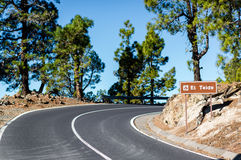 Road to Volcano Teide Stock Images