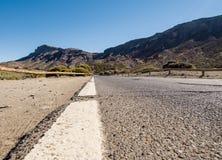 Road to Volcano Teide at Tenerife Stock Photos