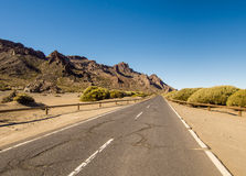 Road to Volcano Teide at Tenerife Stock Image