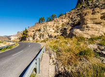 Road to Volcano Teide at Tenerife Stock Images