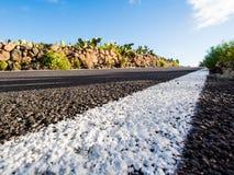 Road to Volcano Teide at Tenerife Stock Photo