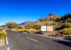 Road to Volcano Teide at Tenerife Stock Photography