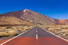 Road to volcano Teide at Tenerife island - Canary Stock Image