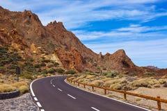 Road to volcano Teide at Tenerife island - Canary Stock Photo