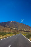 Road to volcano Teide, Tenerife, Spain stock images
