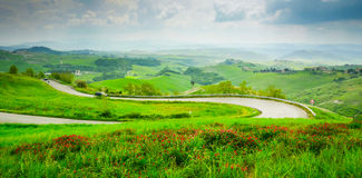 Road to Volterra Royalty Free Stock Image