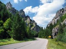 Road to Vratna Valley, Slovakia stock image