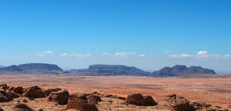 On the road to the Wadi Rum, Jordan, Middle East Royalty Free Stock Image