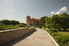 Road to Wawel Castle, Krakow, Poland. Stock Photography
