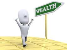 Road to Wealth Stock Images
