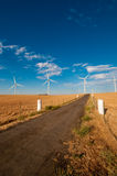 Road to Wind Power Royalty Free Stock Photography