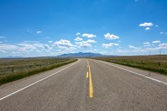 Road to Writing on Stone Provincial Park. Open highway near Writing On Stone provincial park in Southern Alberta stock photography