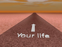 Road to your life Royalty Free Stock Image