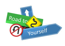 Road to yourself Stock Image