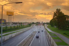 Road to Zagreb,Croatia Stock Photo