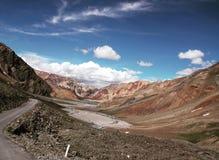The road to Zanskar. Amazing road in Himalaya royalty free stock photo