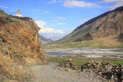 The road to Zanskar. Amazing road in Himalaya royalty free stock photography