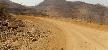 Road to zinc mine. Stock Images