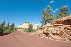 Road to Zion National Park Royalty Free Stock Photography