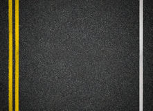 Road top view. Asphalt highway marks. Asphalt highway road top view stock photography