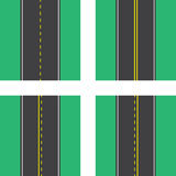 Road Top View Lines Royalty Free Stock Photography