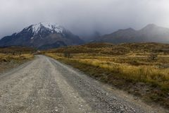 Road in the Torres del Paine Royalty Free Stock Photos