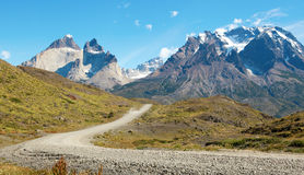 Road in Torres del Paine national park royalty free stock photography