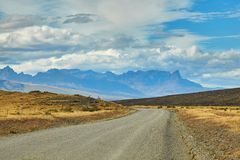 Road in Torres del Paine national park of Chile Royalty Free Stock Images