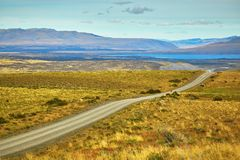 Road in Torres del Paine national park of Chile Royalty Free Stock Photography