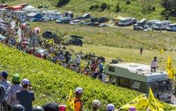 Road of Tour de France - Tour de France 2016 Royalty Free Stock Photo