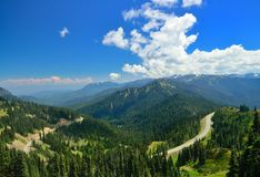 Road toward Hurricane Ridge Royalty Free Stock Photos