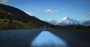 Road towards Aoraki Mount Cook Stock Images