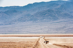 Road towards Devil`s Golfcourse in Death Valley National Park California. Road towards Devil`s Golfcourse in Death Valley National Park, California, USA royalty free stock photos