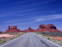 Road towards Monument Valley Royalty Free Stock Photo