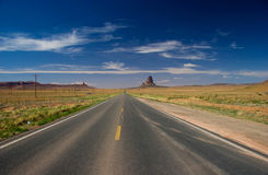 Road towards Monument Valley in the Navajo Nation royalty free stock photography