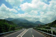 Road tp Wuyuan County, Jiangxi, China Stock Image