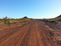 Road track in Australian outback Royalty Free Stock Images
