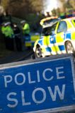 Road traffic accident 1. Police attend an accident on a rural road in England Royalty Free Stock Photos