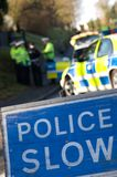 Road traffic accident 1. Police attend an accident on a rural road in England Stock Image