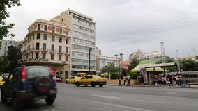 Road traffic in Athens, Greece. GREECE, ATHENS, JUNE 7 2013: Road traffic in Athens, Greece stock footage