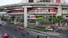 Road traffic in Bangkok, Thailand. THAILAND, BANGKOK, APRIL 11 2014: Road traffic in Bangkok, Thailand stock footage