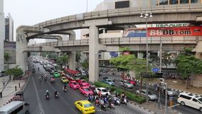 Road traffic in Bangkok, Thailand. THAILAND, BANGKOK, APRIL 11 2014: Road traffic in Bangkok, Thailand stock video