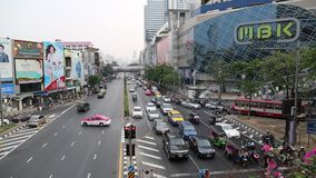 Road traffic in Bangkok, Thailand. THAILAND, BANGKOK, APRIL 11 2014: Road traffic in Bangkok, Thailand stock video footage
