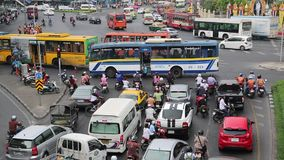 Road traffic in Bangkok, Thailand stock video