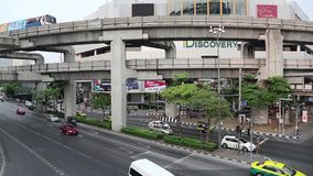 Road traffic in Bangkok, Thailand. THAILAND, BANGKOK, APRIL 11 2014: Road traffic in Bangkok, Thailandn stock video