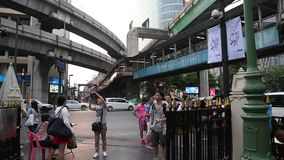 Road traffic in Bangkok, Thailand. THAILAND, BANGKOK, APRIL 11 2014: Road traffic in Bangkok, Thailandrn stock video