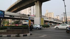 Road traffic in Bangkok, Thailand. THAILAND, BANGKOK, APRIL 11 2014: Road traffic in Bangkok, Thailandrn stock video footage