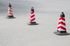 Road Traffic Barricades Royalty Free Stock Photos